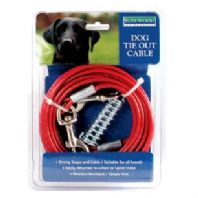 Rosewood 20ft Dog Tie Out Cable for Spiral Stake Ground Spike